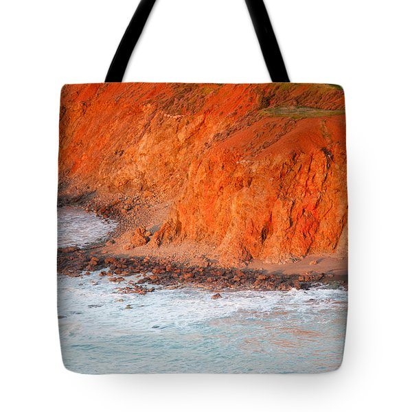 Seaside Cliff Bathed In Afternoon Light Tote Bag