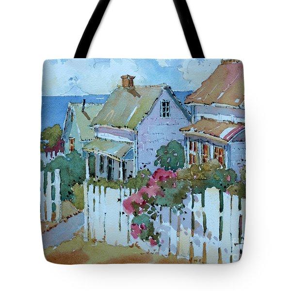 Seaside Cottages Tote Bag