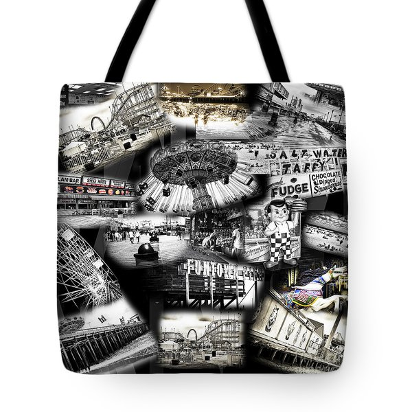 Seaside Funtown Tote Bag by John Rizzuto
