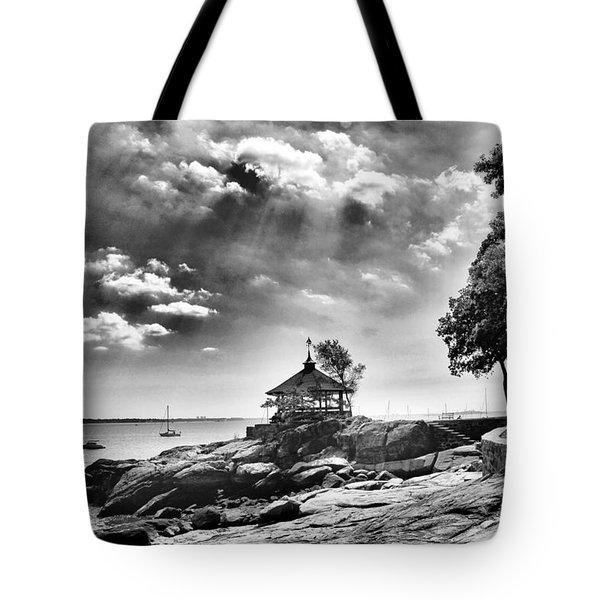 Seaside Gazebo Tote Bag