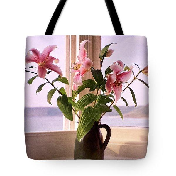Seaside Lilies Tote Bag by Terri Waters