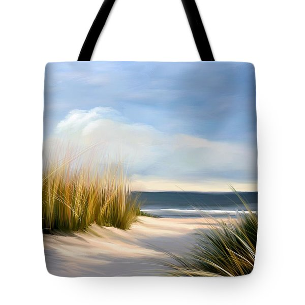 Seaside Path Tote Bag