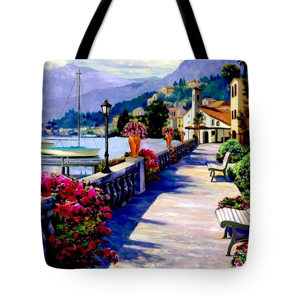 Seaside Pathway Tote Bag by Ron Chambers