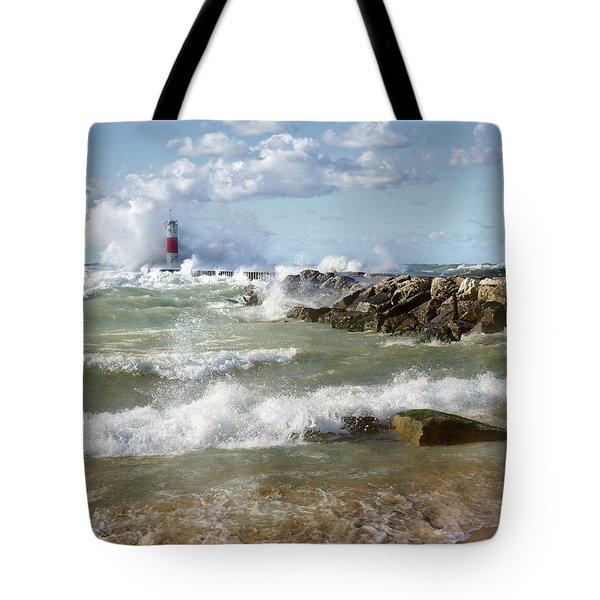Seaside Splash Tote Bag