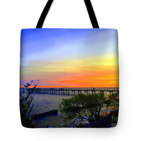 Seaside Sunset Tote Bag