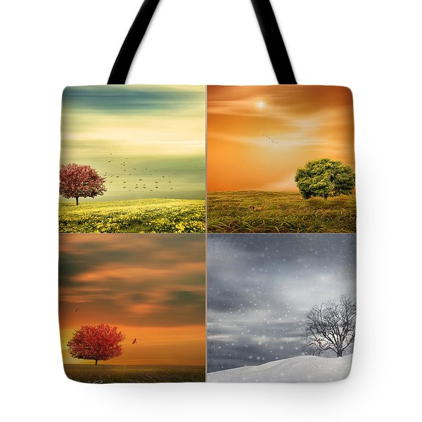 Seasons' Delight Tote Bag by Lourry Legarde