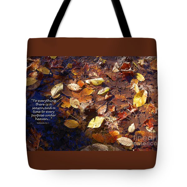 Tote Bag featuring the photograph Seasons by Diane E Berry