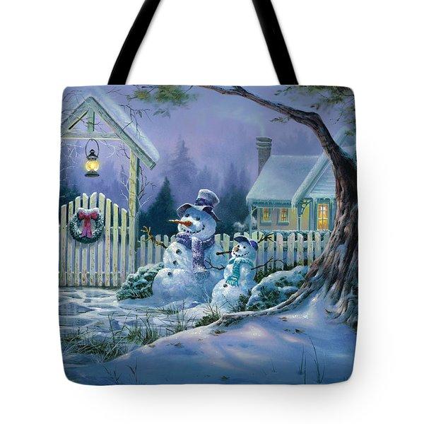 Season's Greeters Tote Bag