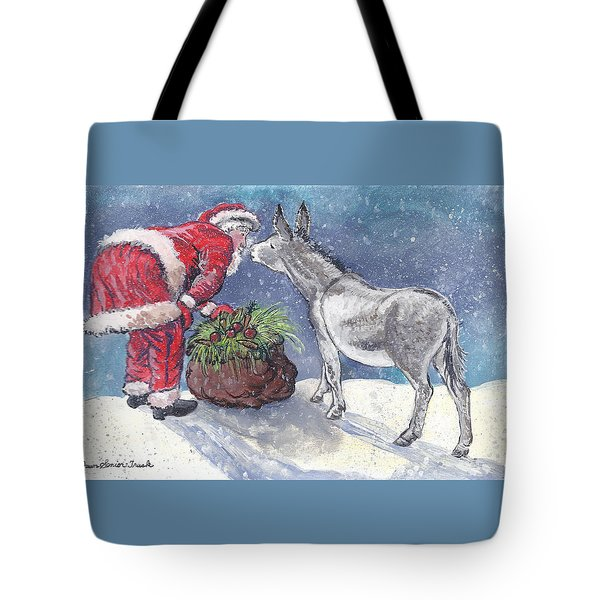 Season's Greetings Tote Bag by Dawn Senior-Trask