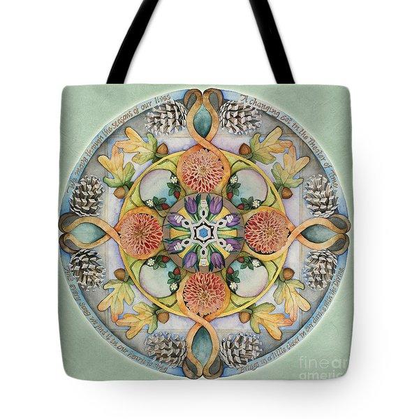 Seasons Mandala Tote Bag