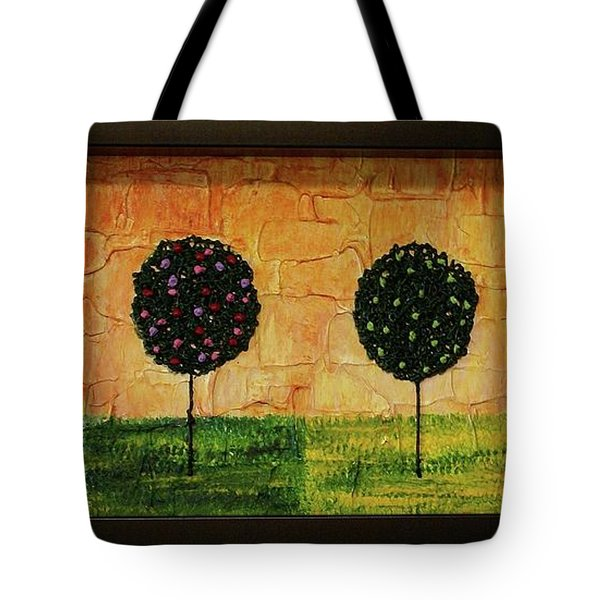 Tote Bag featuring the painting Seasons Of Love by Jane Chesnut