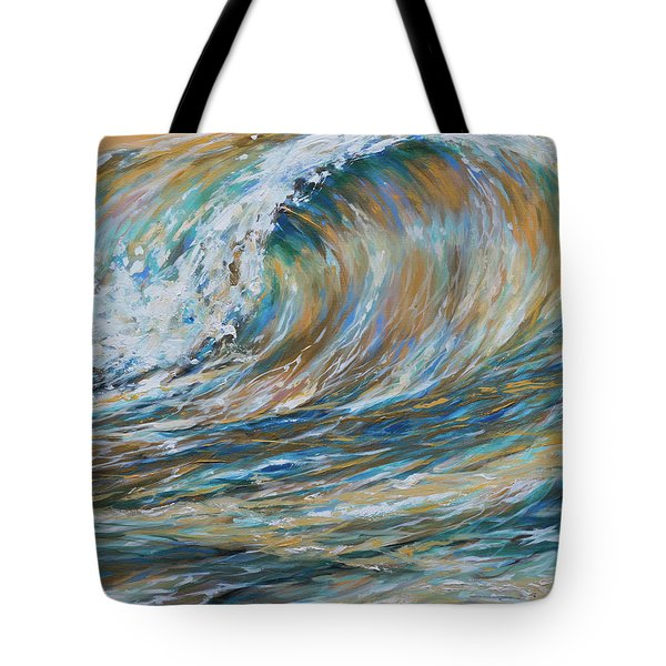 Seaspray Gold Tote Bag