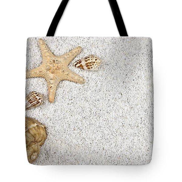 Seastar And Shells Tote Bag