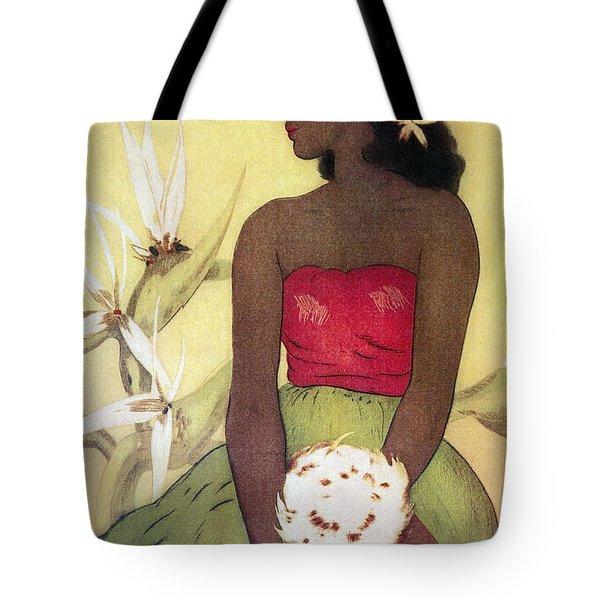 Seated Hula Dancer Tote Bag