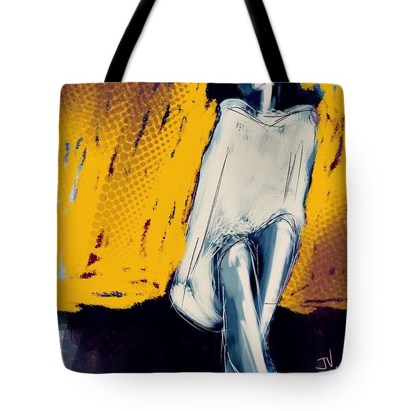 Seated On The Edge Tote Bag by Jim Vance