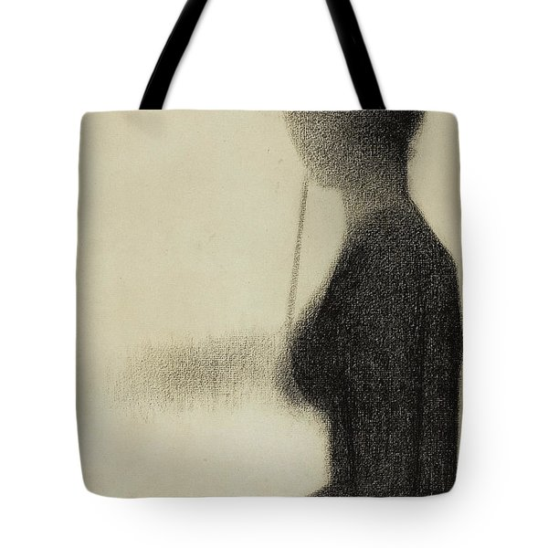 Seated Woman With A Parasol  Tote Bag