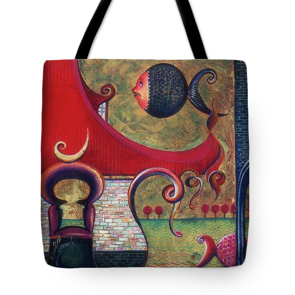 Tote Bag featuring the painting Seatime by Anna Ewa Miarczynska