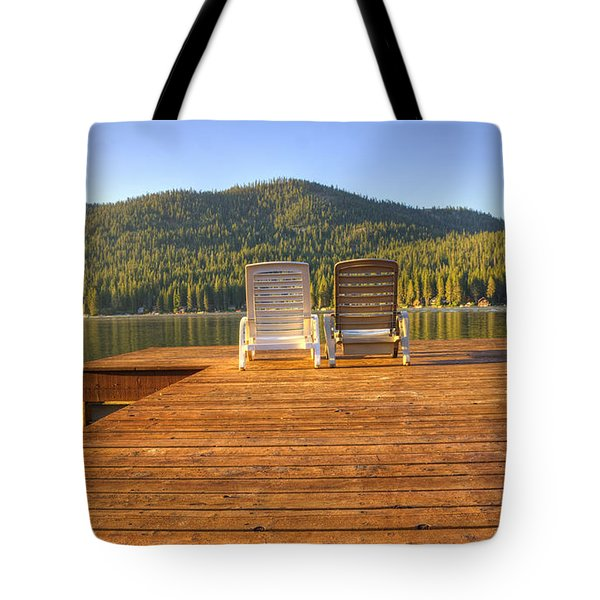 Seating For Two  Tote Bag