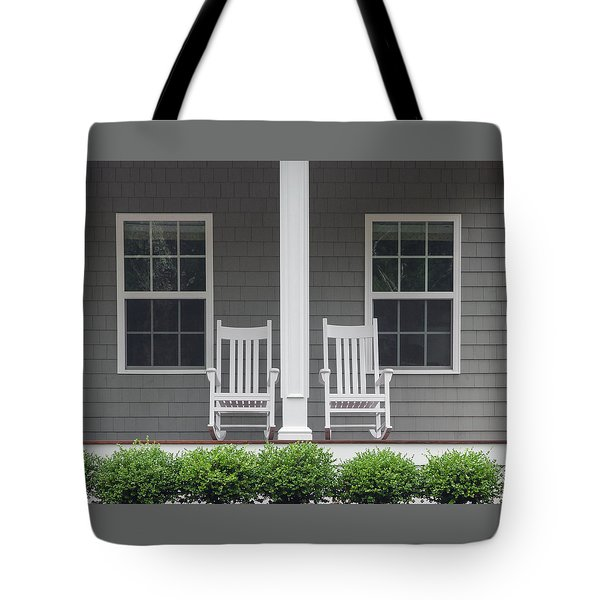 Seating For Two Tote Bag by Keith Armstrong