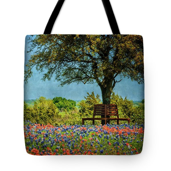 Tote Bag featuring the photograph Seating For Two by Ken Smith