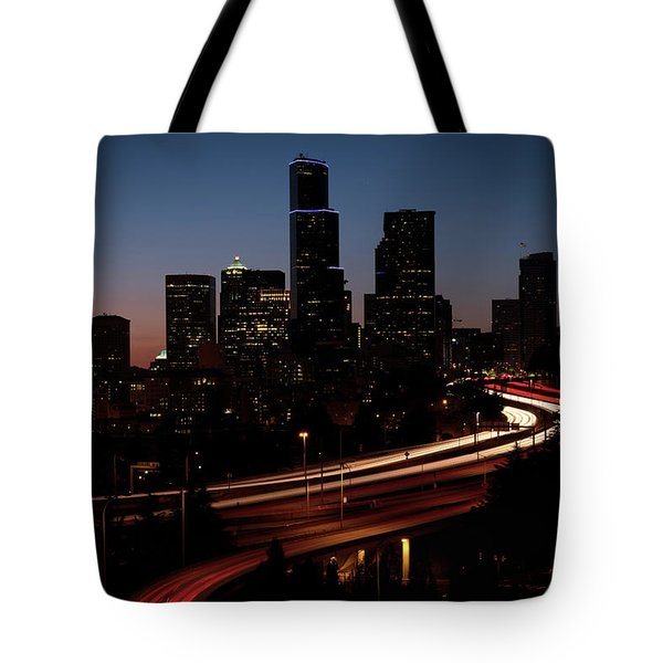 Seattle At Dusk Tote Bag