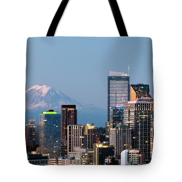Seattle At First Light II Tote Bag