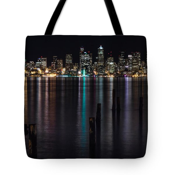 Seattle At Night Tote Bag