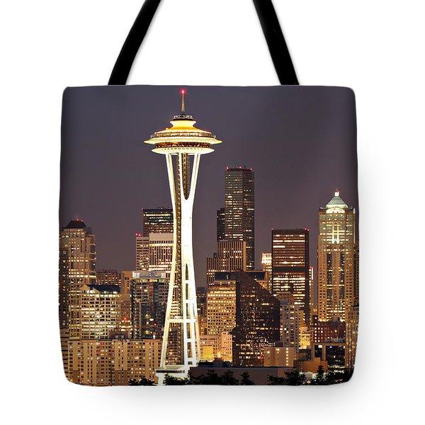 Seattle Full Moon Tote Bag