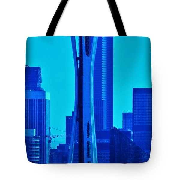 Seattle Blue Tote Bag by Martin Cline
