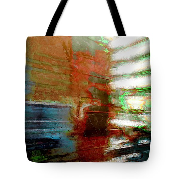 Tote Bag featuring the photograph Seattle By Train by Lori Seaman