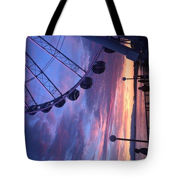 Seattle Ferris Wheel Tote Bag