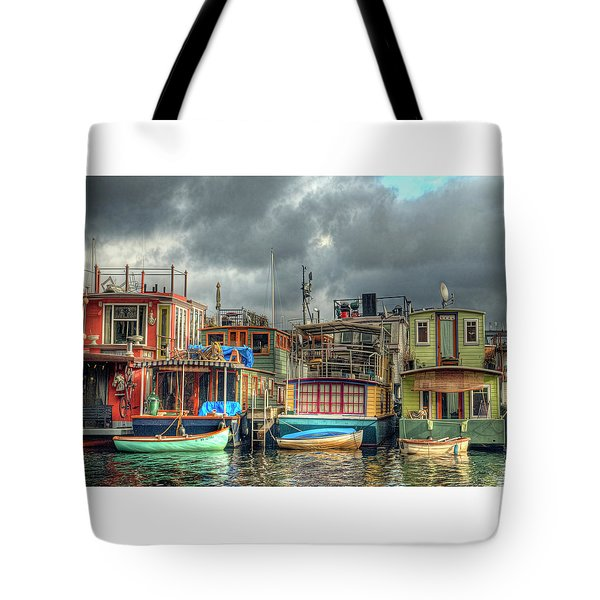 Seattle Houseboats Fine Art Photograph Tote Bag
