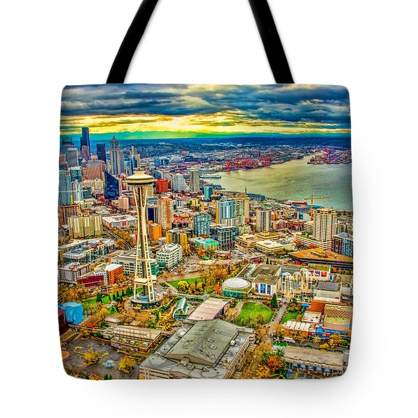 Tote Bag featuring the photograph Seattle by Jerry Cahill
