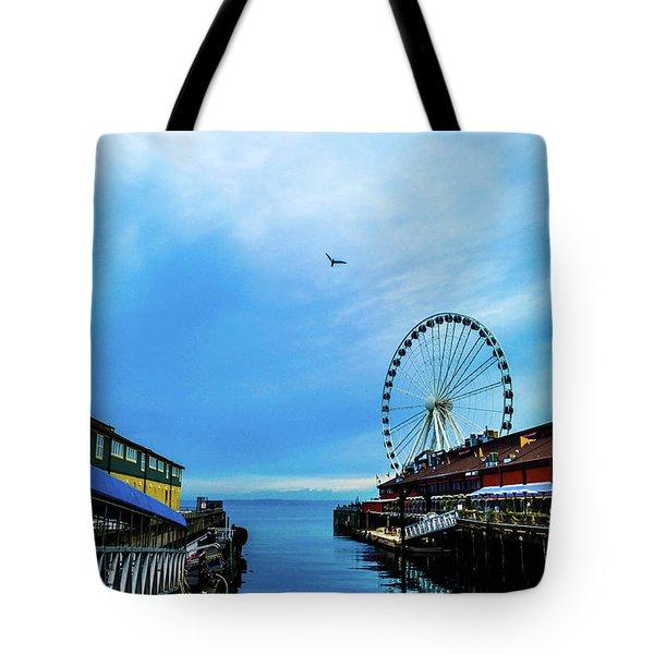 Seattle Pier 57 Tote Bag