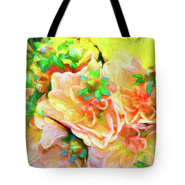 Seattle Public Market Flowers Tote Bag