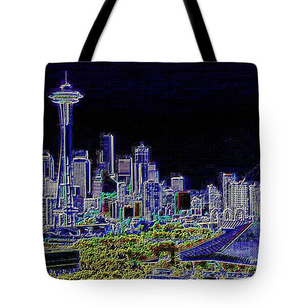 Seattle Quintessence Tote Bag by Tim Allen