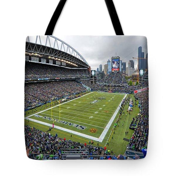 Seattle Seahawks Centurylink Field Tote Bag