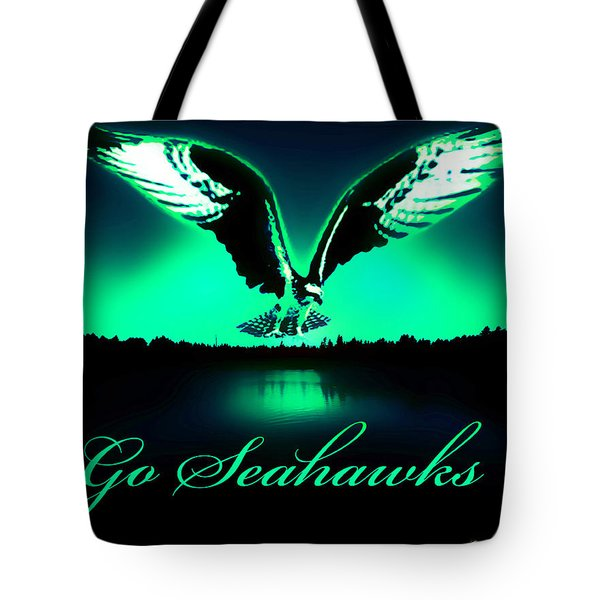 Tote Bag featuring the photograph Seattle Seahawks by Eddie Eastwood