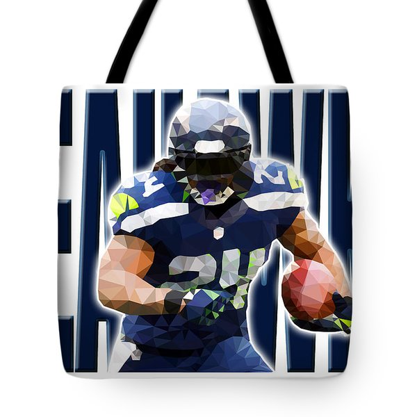 Tote Bag featuring the digital art Seattle Seahawks by Stephen Younts
