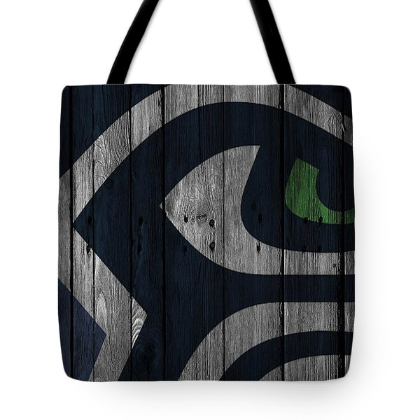 Seattle Seahawks Wood Fence Tote Bag