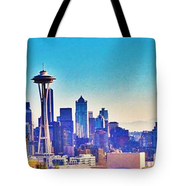 Seattle Sky Tote Bag by Martin Cline