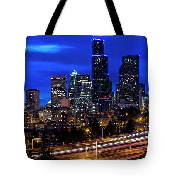 Seattle Skyline Tote Bag