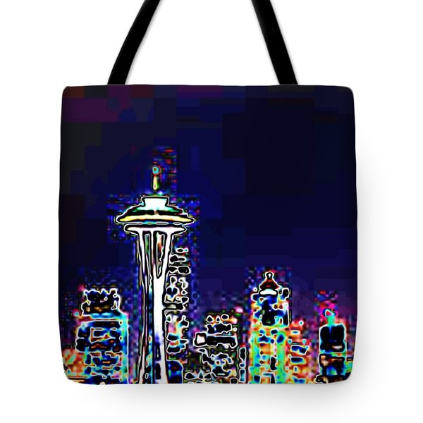 Seattle Skyline Tote Bag by Tim Allen