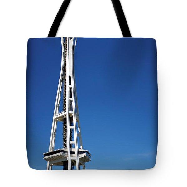 Seattle Space Needle Tote Bag by Adam Romanowicz