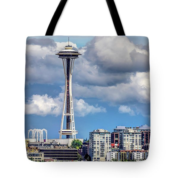 Seattle Space Needle Hdr Tote Bag