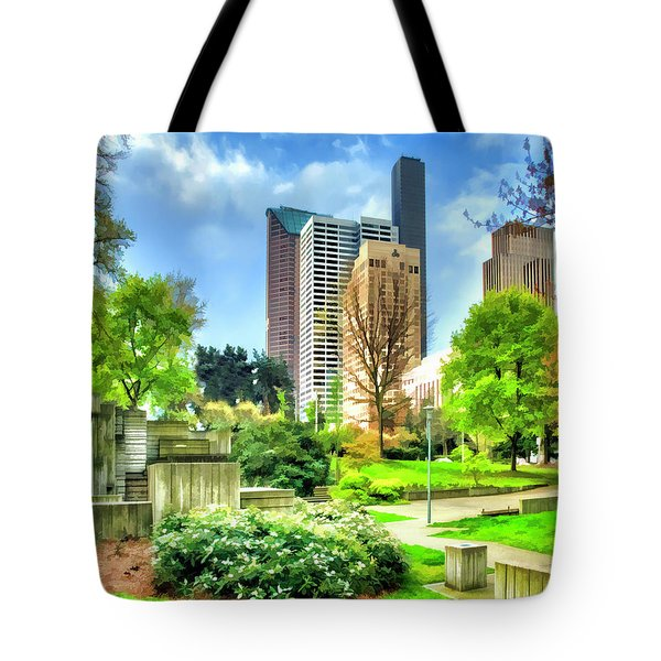 Seattle Spring Fine Art Print Tote Bag