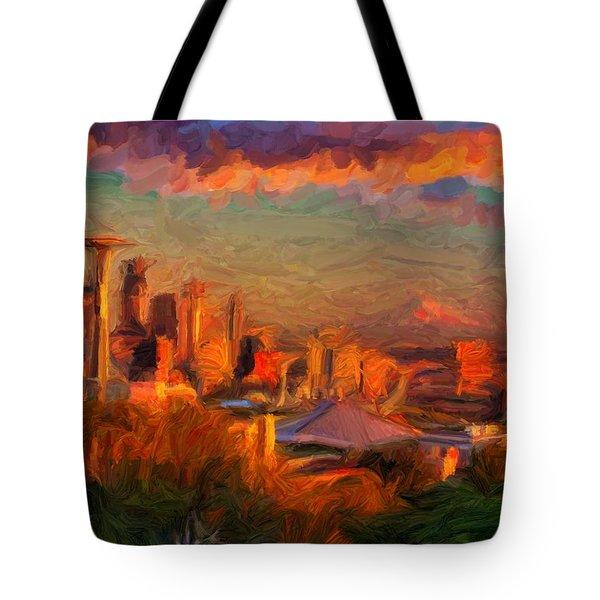 Seattle Sunset 1 Tote Bag