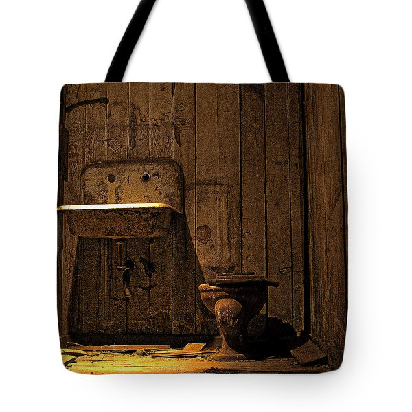 Seattle Underground Bathroom Tote Bag by David Patterson