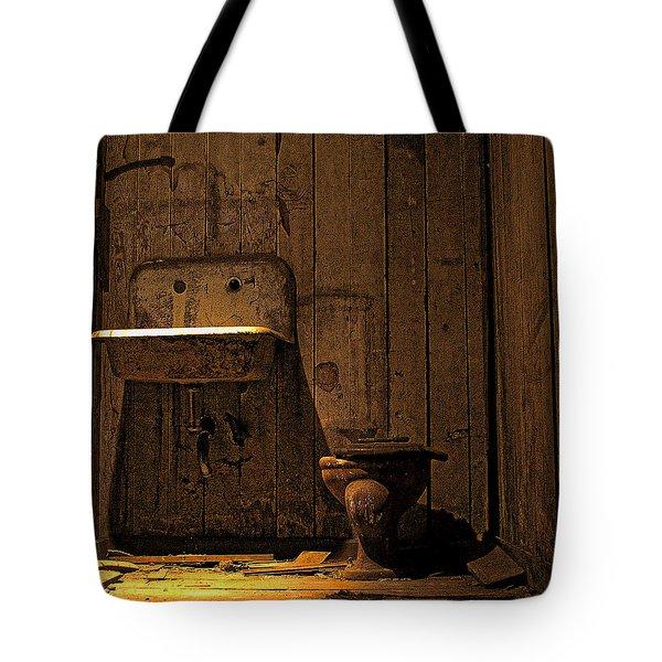 Seattle Underground Bathroom Tote Bag
