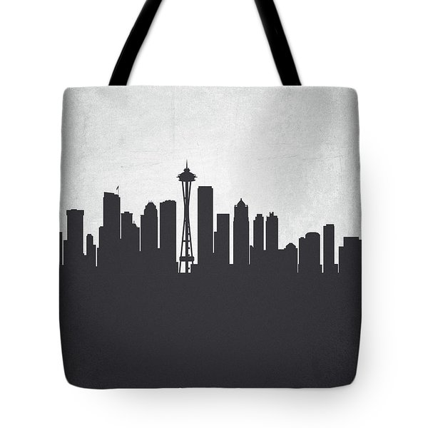 Seattle Washington Cityscape 19 Tote Bag by Aged Pixel